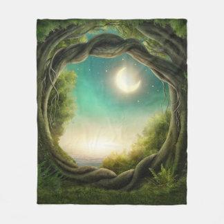 Magic Moon Tree Fleece Blanket