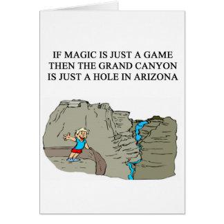 MAGIC mtg game player Greeting Card