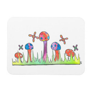 Magic Mushroom Faerie Field Flexible Magnet