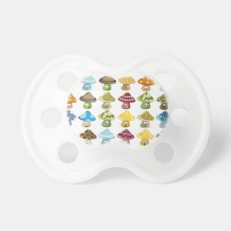 Magic Mushroom Smiley Pattern Baby Pacifier