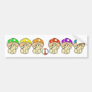 Magic Mushrooms Bumper Sticker