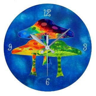 Magic Mushrooms Large Clock