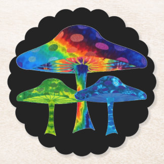 Magic Mushrooms Paper Coaster