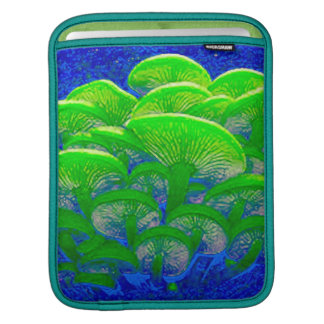 Magic Mushrooms Psychedelic Digital Art iPad Sleeve