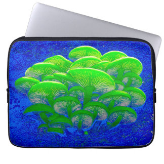 Magic Mushrooms Psychedelic Digital Art Laptop Sleeve