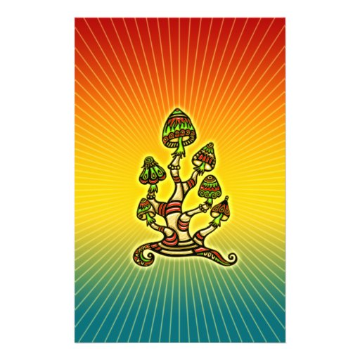 Magic Mushrooms - psychedelic Personalized Flyer