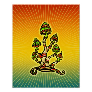 Magic Mushrooms - psychedelic Poster