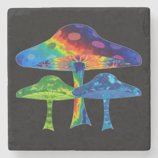 Magic Mushrooms Stone Coaster