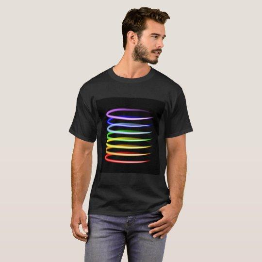 Magic neon colourful glowing light effect T-Shirt