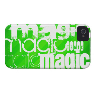 Magic; Neon Green Stripes iPhone 4 Covers