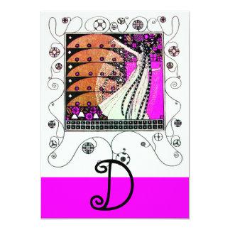 MAGIC OF THE  SPRING ,bright purple  black brown Invites