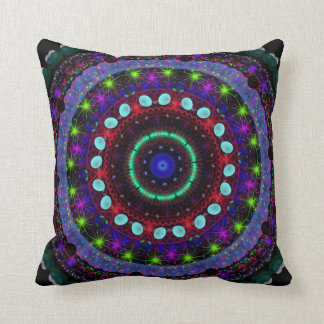 Magic Orbs fantasy kaleidoscope pillow cushion