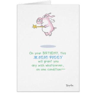 MAGIC PIGGY GREETING CARD