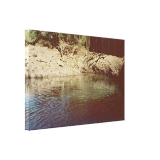 Magic Pool from behind Waterfall 1 Wrapped Canvas