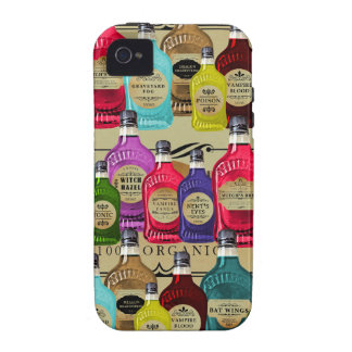 Magic Potion Apothecary Halloween Tonic Bottles Case-Mate iPhone 4 Cases