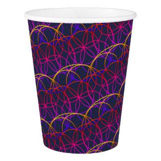 Magic Psychedelic Circles Paper Cup