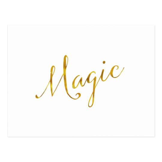 Magic Quote Faux Gold Foil Quotes Humour Sparkly