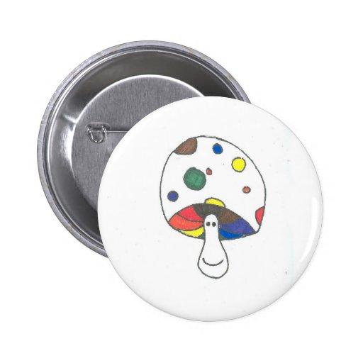 Magic Rainbow Cap Shroom Button