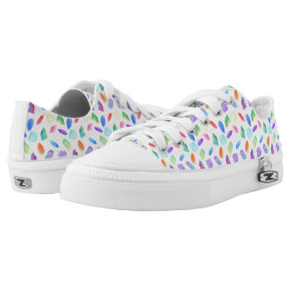 Magic Rainbow Crystals Colorful Crystal Gems Stone Low Tops