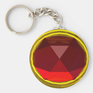 MAGIC RED RUBY GEMSTONE KEY RING