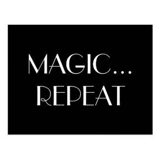 Magic repeat postcard