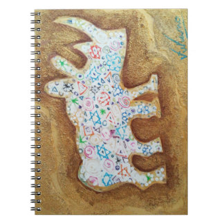 Magic rhyno on stone wall - Notebook