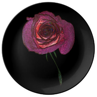 Magic Rose  Decorative Porcelain Plate