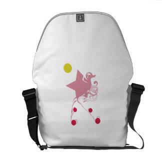 Magic Rose Star Messenger Bag