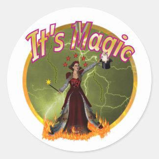 magic round sticker