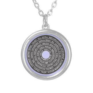 Magic rune stone magic rune stone silver plated necklace