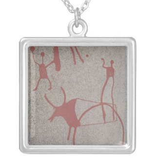 Magic scenes silver plated necklace