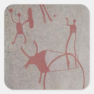 Magic scenes square sticker