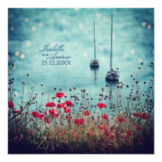 Magic Sea of Love - Wedding 13 Cm X 13 Cm Square Invitation Card