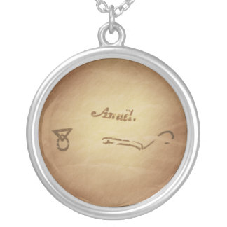 Magic Seal Angel Anael Protection Magic Charms Silver Plated Necklace