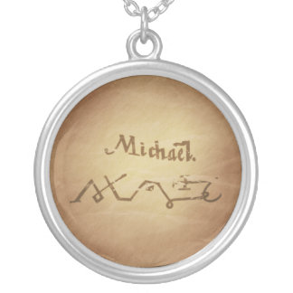 Magic Seal Angel Michael Protection Magic Charms Silver Plated Necklace