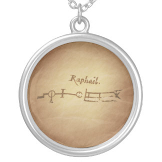 Magic Seal Angel Raphael Protection Magic Charms Silver Plated Necklace