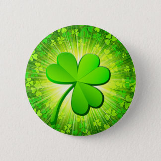 Magic shamrock 6 cm round badge