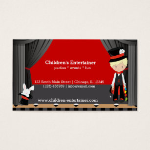Birthday entertainer business cards business card printing zazzle uk magic show business card colourmoves