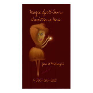 Magic Spell Tour Guide Double-Sided Standard Business Cards (Pack Of 100)