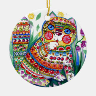 magic spring cat christmas ornament