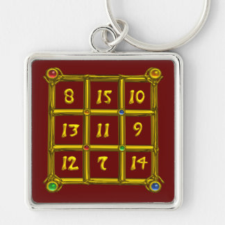 MAGIC SQUARE 33 , Red Key Ring