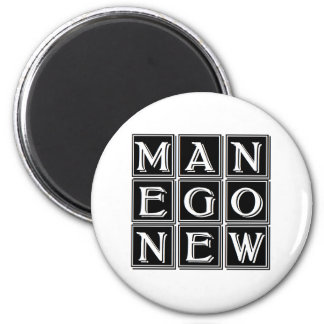 magic square new man now 6 cm round magnet