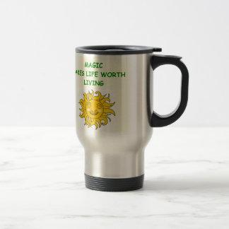magic stainless steel travel mug