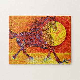 Magic striding horse running - Magic Puzzle