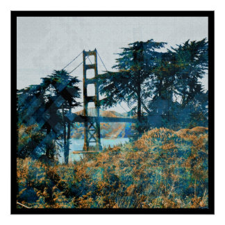 Magic Sunset Bridge Blue_orange Poster