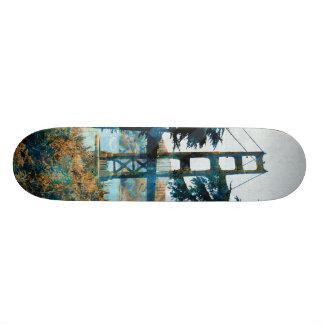 Magic Sunset Bridge Blue_orange Skateboard Deck