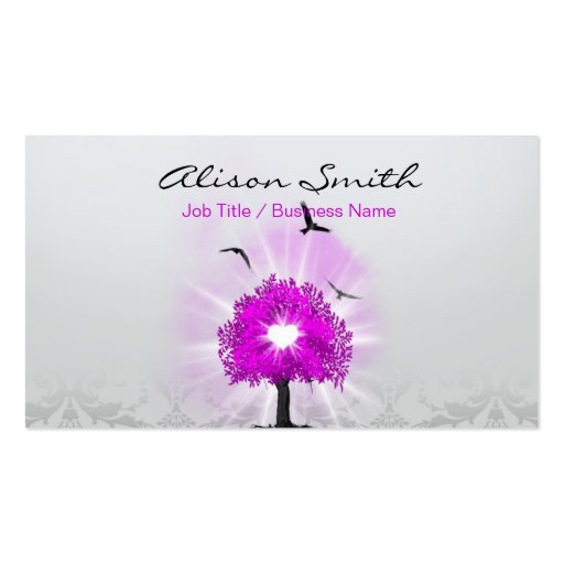 Magic tree of love business cards