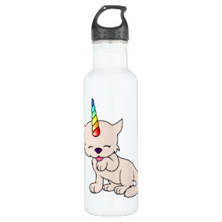 Magic Unicorn Cat = Kittycorn 710 Ml Water Bottle