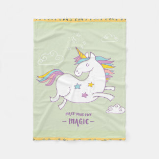 Magic Unicorn Fleece Blanket, Small