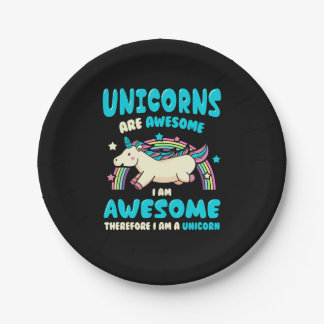 Magic Unicorn Paper Plate